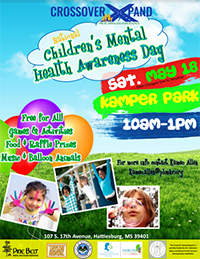 Crossover Xpand National Children's Mental Health Awareness Day flyer